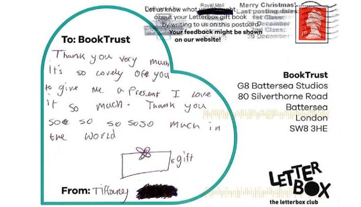 Booktrust Christmas campaign Letterbox Club