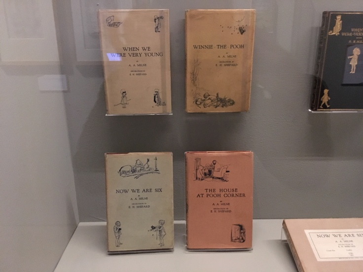 First editions of Winnie-the-Pooh on display at the V&A Museum
