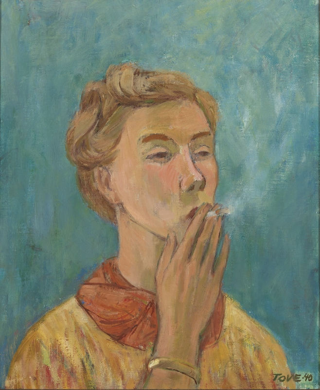 Self-portrait of artist Tove Jansson, called The Smoking Girl
