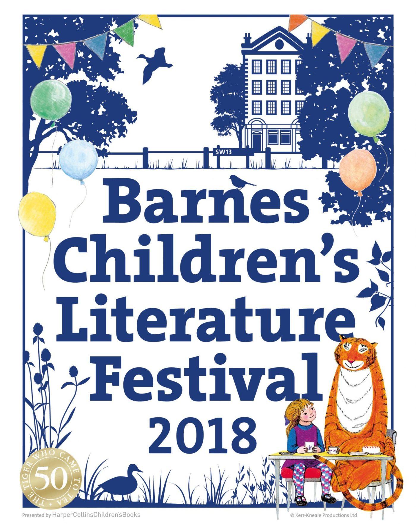 Barnes Children's Literature Festival 2018 poster