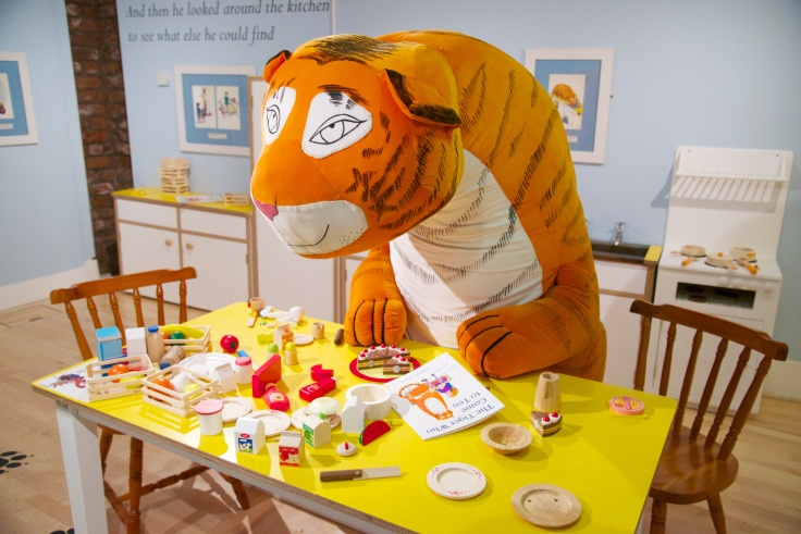 The Tiger Who Came To Tea exhibition. Photo: Damien Wootten / Seven Stories