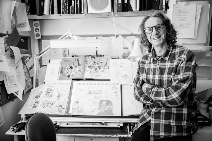 Neal Layton Illustrator. Photo: Claire Sambrook and Emily Whiting