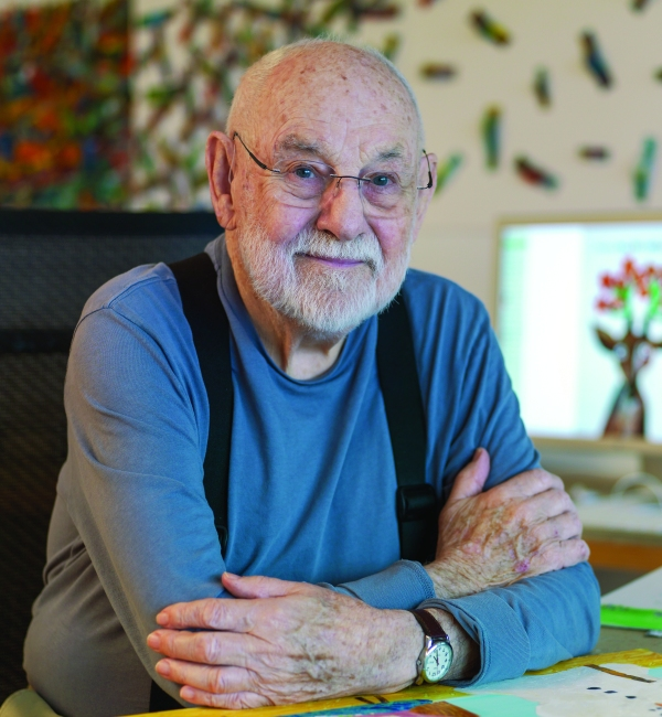 Author Eric Carle in his studio
