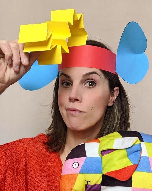 Elmer elephant headpiece